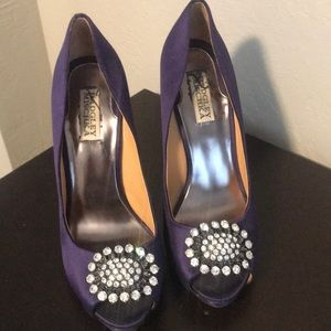 Badgley Mischka Lissa Purple Pumps